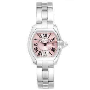 """ساعة يد نسائية كارتييه """"روادستر دبليو62017ڨي3"""" ستانلس ستيل وردية 36x30 مم"""