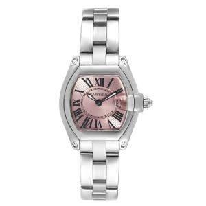 """ساعة يد نسائية كارتييه """"روادستر دبليو62017ڨي3"""" ستانلس ستيل فضية 36x30 مم"""