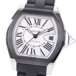 Cartier White Stainless Steel Roadster 3312 Women's Wristwatch 39 MM