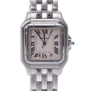 Cartier White Stainless Steel Panthère de Cartier Women's Wristwatch 22 MM