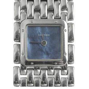 Cartier Blue MOP Stainless Steel Ruban Quartz Women's Wristwatch 22 MM
