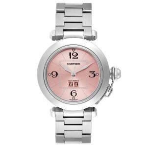 Cartier Pink Stainless Steel Pasha C de Cartier W31058M7 Automatic Women's Wristwatch 35 MM
