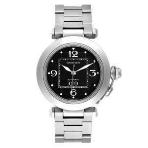 Cartier Black Stainless Steel Pasha C De Cartier W31053M7 Automatic Women's Wristwatch 35 MM
