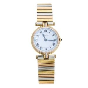 Cartier White 18k Three Tone Gold Trinity Vendôme Women's Wristwatch 25 mm