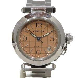 Cartier Brown Stainless Steel Pasha C de Cartier Automatic Women's Wristwatch 35 MM