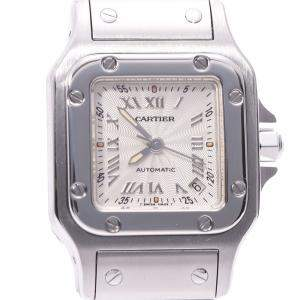 Cartier Silver Stainless Steel Santos Galbee W20044D6 Women's Wristwatch 24 MM