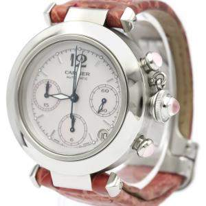 Cartier MOP Stainless Steel Pasha W3106599 Automatic Women's Wristwatch 36 MM