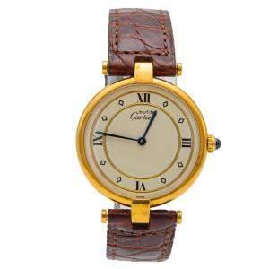 Cartier Vermeil Must de Cartier Silver 925 Gold-Plated Watch 30MM