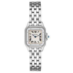 Cartier White Stainless Steel Panthere W25033P5 Women's Wristwatch 22 x 22 MM