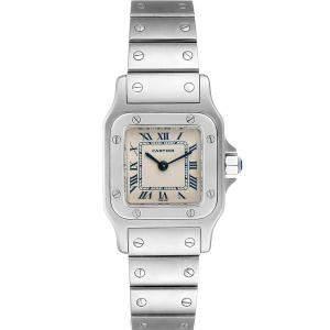 """ساعة يد نسائية كارتييه """"سانتوس غالبي دبليو20056دي6"""" ستانلس ستيل فضية 24 x 24 مم"""