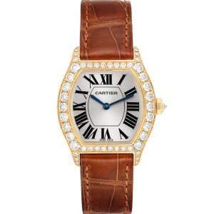 ساعة يد نسائية كارتييه تورتو WA503751 ذهب أصفر عيار 18 ألماس بيضاء 34 x 28مم
