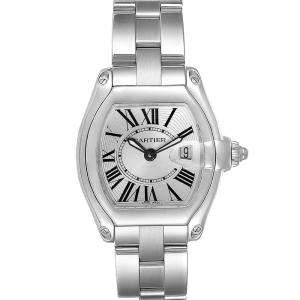 ساعة يد نسائية كارتييه رودستار W62016V3 ستانلس ستيل فضية 36 x 30مم