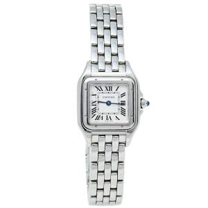 Cartier Silver Stainless Steel Panthere De Cartier CRWSPN0006 Women's Wristwatch 22 mm