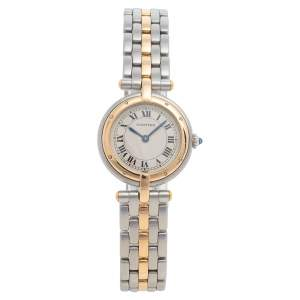 Cartier Cream 18K Yellow Gold And Stainless Steel Panthere 1057920 Women's Wristwatch 23 mm