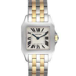 ساعة يد نسائية كارتييه سانتوس ديموسيل W25067Z6 ذهب أصفر عيار 18 وستانلس ستيل فضيه  26 مم