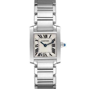 ساعة يد نسائية كارتييه تانك فرنشيسكا W51008Q3 ذهب أصفر عيار 18 وستانلس ستيل فضيه 20× 25 مم