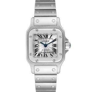 ساعة يد نسائية كارتييه سانتوس غالبي دبليو20044دي6 سانتوس غالبي سانلس ستيل فضية 24 مم