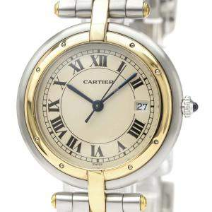Cartier Silver 18K Yellow Gold And Stainless Steel Panthere Vendome Quartz Women's Wristwatch 30 MM