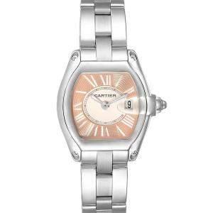 ساعة يد نسائية كارتييه رودستر إصدار محدود دبليو52054في3 ستانلس ستيل بنية محمرة 36 × 30 مم
