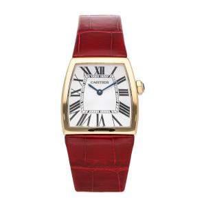 Cartier Silver 18K Yellow Gold La Dona W6400156 Women's Wristwatch 33 x 28 MM