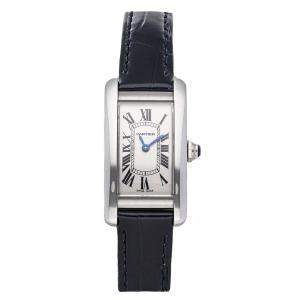 Cartier Ballon Tank Americaine Small Model WSTA0016 Stainless Steel Women's Wristwatch 34.8mm x 18mm