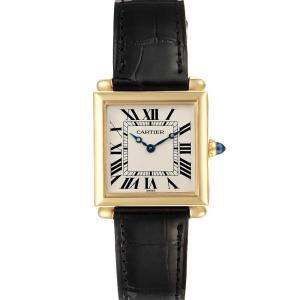 Cartier Silver Tank Obus Prevee Collection 1630 Women's Wristwatch 24.5 MM
