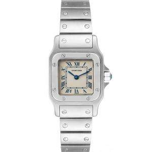 Cartier Silver Stainless Steel Santos Galbee W20056D6 Women's Wristwatch 24 x 24 MM