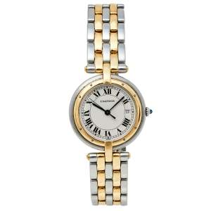 Cartier 18K Yellow Gold & Stainless Steel Panthere Vendome 183964 Women's Wristwatch 29 mm