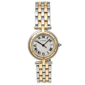 ساعة يد نسائية كارتييه بانثير فيندوم 183964 ذهب أصفر عيار 18 وستانلس ستيل 29مم