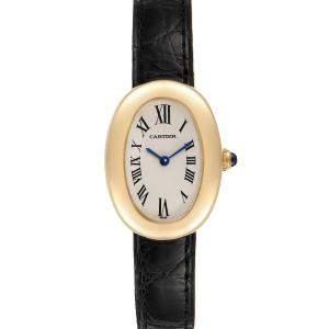 Cartier Silver 18K Yellow Gold Baignoire 1954 Women's Wristwatch 31 x 22.5 MM