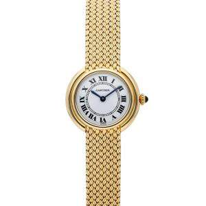 Cartier White 18K Yellow Gold Vendome 82721277 Women's Wristwatch 26 MM