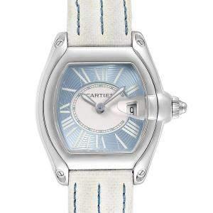 Cartier Blue Stainless Steel Roadster W62053V3 Men's Wristwatch 36 x 30 MM