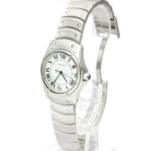 Cartier White Stainless Steel Santos Cougar W20027K1 Men's Wristwatch 30 MM