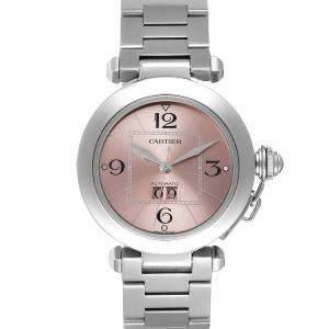 Cartier Pink Stainless Steel Pasha W31058M7 Women's Wristwatch 35 MM