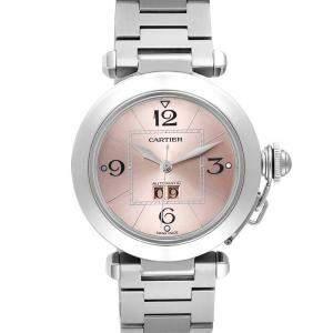 Cartier Pink Stainless Steel Pasha Big W31058M7 Women's Wristwatch 35 MM