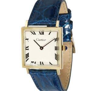 Cartier Silver 14K Yellow Gold Dress 870 Women's Wristwatch 25.5 MM