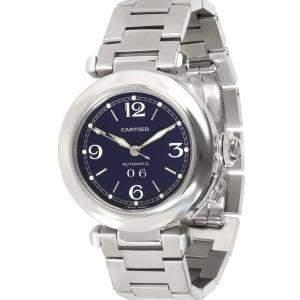 Cartier Blue Stainless Steel Pasha C W31047M7 Women's Wristwatch 35 MM