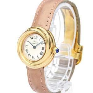 Cartier Silver Rose Gold Plated Must Trinity W1015045 Quartz Women's Wristwatch 27 MM