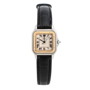 ساعة يد نسائية كارتييه بانثير 1100 ستانلس ستيل وذهب أصفر عيار 18 27 مم