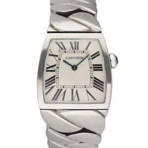 Cartier White Stainless Steel La Dona W6600221 Women's Wristwatch 28 MM