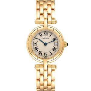 Cartier Silver 18K Yellow Gold Panthere Vendome 6692 Women's Wristwatch 23 MM