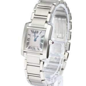 Cartier MOP Stainless Steel Tank Francaise W51028Q3 Quartz Women's Wristwatch 20 MM
