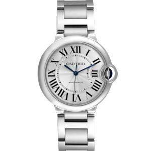 Cartier Silver Stainless Steel Ballon Bleu W6920046 Women's Wristwatch 36 MM