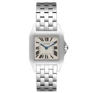 Cartier Silver Stainless Steel Santos Demoiselle W25065Z5 Women's Wristwatch 26 MM