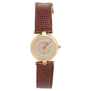 ساعة يد نسائية كارتييه موست دي كارتييه 086942 فيرميل ثلاثية اللون 24 مم