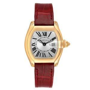 ساعة يد نسائية كارتييه رود ستار W62018Y5 ذهب أصفر عيار 18 فضية 31 x 37 مم