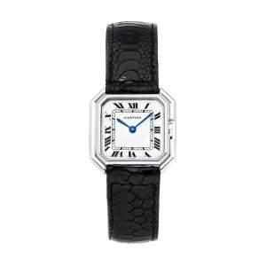 ساعة يد نسائية كارتييه فينتدج سينتور باريس ذهب أبيض عيار 18 بيضاء 27 x 27 مم
