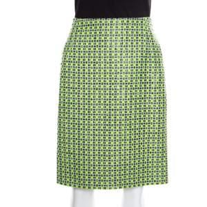 تنورة مستقيمة كارفن كاروهات أخضر كيوي S