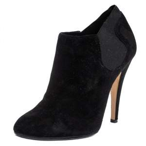 Casadei Black Suede Ankle Boots Size 37