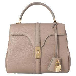 Celine Grey Calfskin Satinated Leather 16 Small Bag